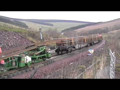 Track laying into Stow on the Borders Railway