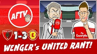 WENGER's EPIC UNITED RANT! Arsenal vs Man Utd 13 (FA Cup 2019 Parody Goals Highlights)