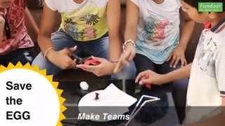 Team Building Activity   Strategy making game   Save the Egg   activity for kids and office