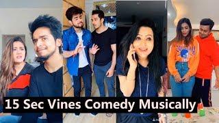 15 Sec Vines Comedy Musically Part 2 | Team 07, Aashika, Awez Darbar, Nagma