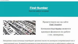 Find-Number или простая работа на дому c гос. номерами. Честный отзыв.