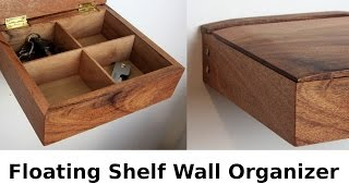 Floating Wall Shelf Organizer Box