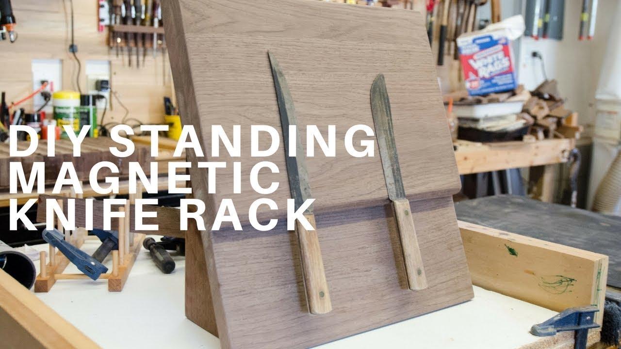 Diy Standing Magnetic Knife Rack