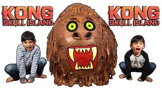 🐵 King Kong Skull Island 🏝 Giant Toys Surprise Egg Opening Review Adventure for Kids