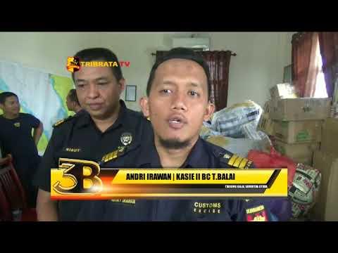 BEA DAN CUKAI TANJUNG BALAI SITA BARANG ILEGAL BAWAAN PENUMPANG FERY ASAL MALAYSIA