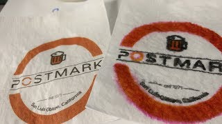 Dye vs Pigment Ink - Napkin and Coaster Printing with Postmark CMYK