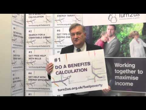 Rt Hon Nick Brown, MP supports Turn2us Fuel Poverty campaign