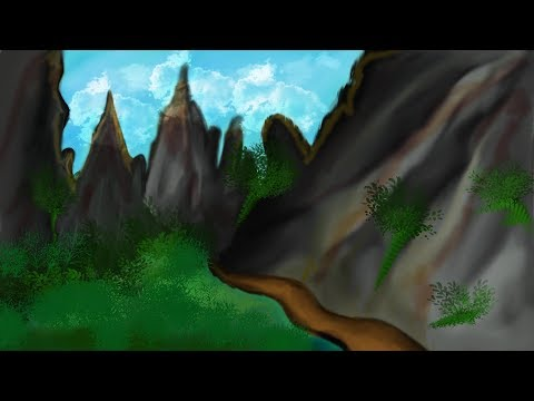 #digital Painting in Photoshop !! Photoshop Tutorials !! Landscape Drawing