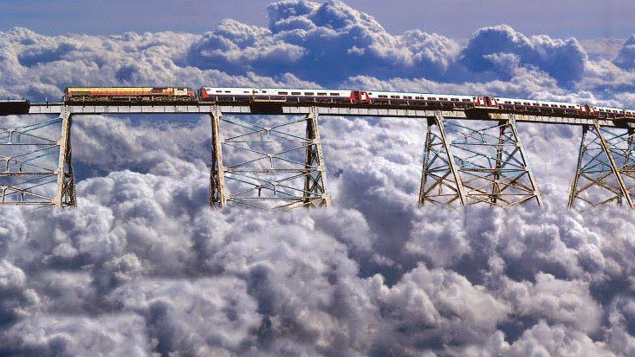 ПЪРВИЯТ ВЛАК В СВЕТА , който се движи в облаците - най-дръзките железопътни линии в света