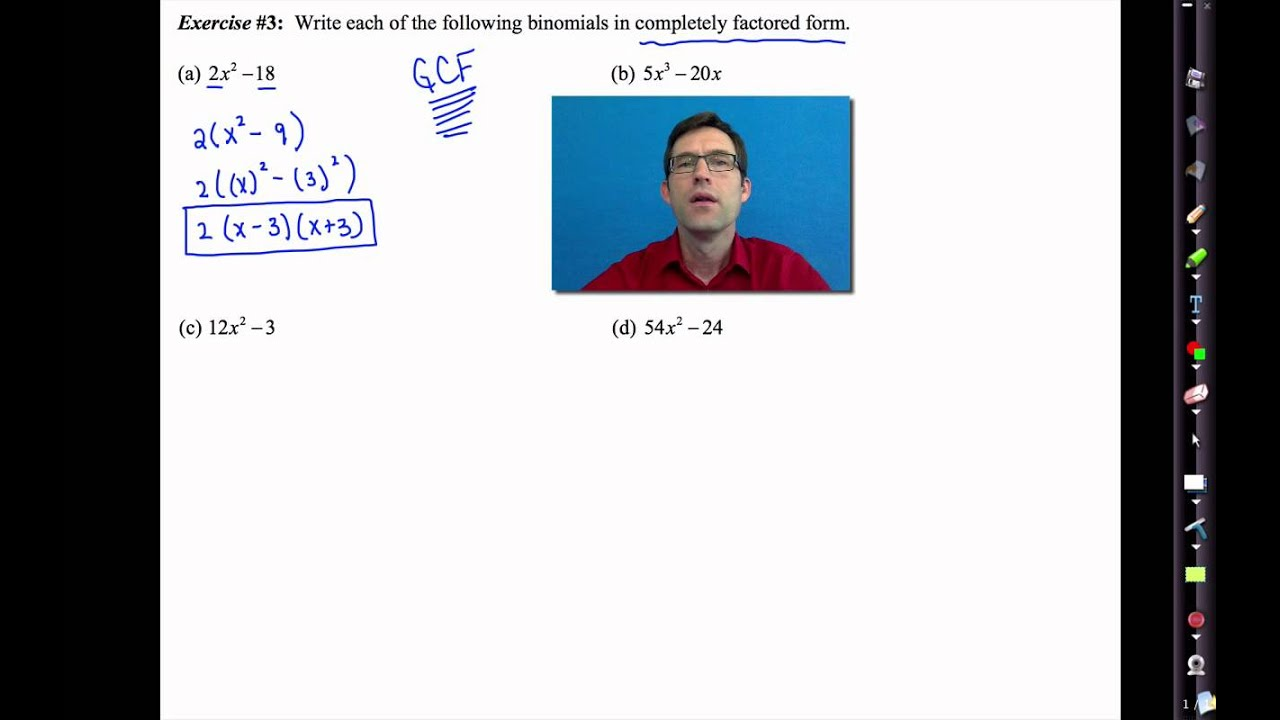 Common Core Algebra I Unit 7 Lesson 6re Trinomial
