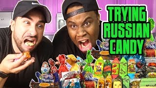 Trying Russian Candy