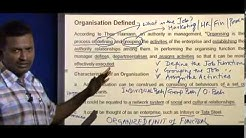 Definition of Organisation | Characteristics of Organisation | Principles of Marketing Lectures