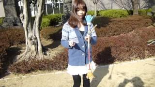 ミステリアスアイドル鷹羽澪がフラワースティックを練習!