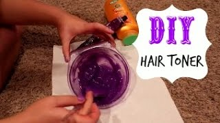 DIY Hair Toner for Blondes!