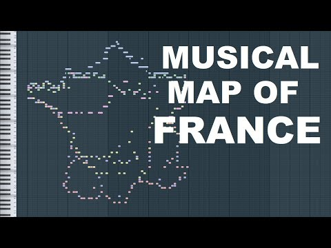 Musical Map of France (Midi Art)