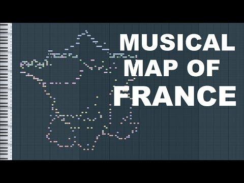 Musical Map of France (Midi Art)