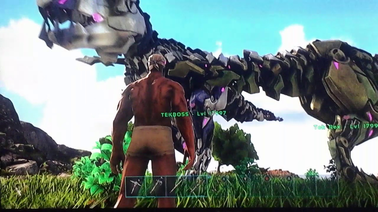 ark survival evolved summon bionic rex and rex saddle youtube