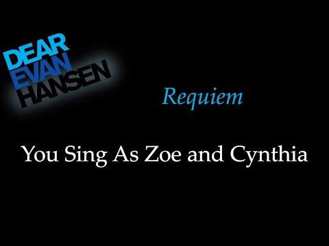 Dear Evan Hansen - Requiem - Karaoke/Sing With Me: You Sing Zoe and Cynthia