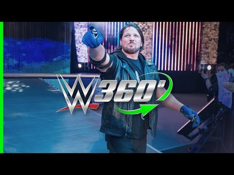 WWE posted a 360 degree video of AJ Styles' Raw entrance to YouTube