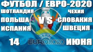 Футбол Чемпионат Европы Евро 2020 Шотландия Чехия Польша Словакия Испания Швеция Обзор расписание