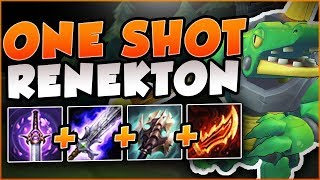 HOW STRONG CAN THIS BURST FULL AD CROC BUILD BE? ONE SHOT RENEKTON TOP GAMEPLAY! - League of Legends