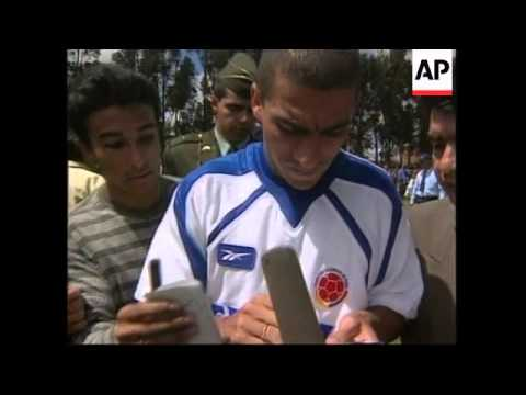 COLOMBIA: WORLD CUP SOCCER TEAM TRAINING SESSION