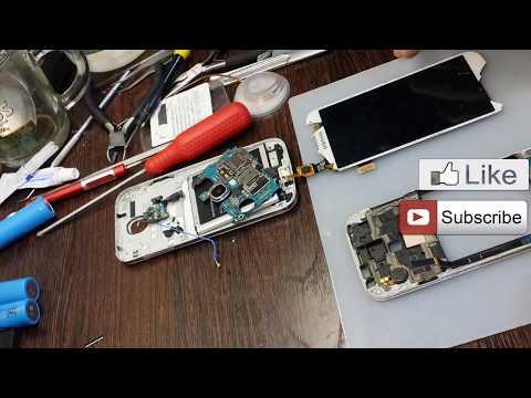 Восстановление шлейфа тачскрина Samsung Galaxy S4 под микроскопом