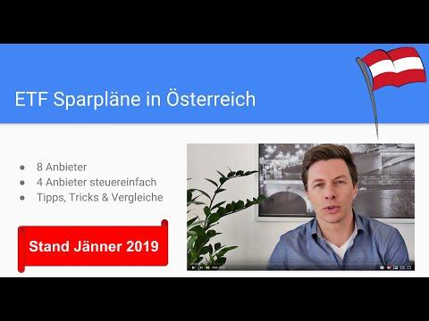 ETF Sparplan Österreich - 4 Online Broker für ETF-Sparplan