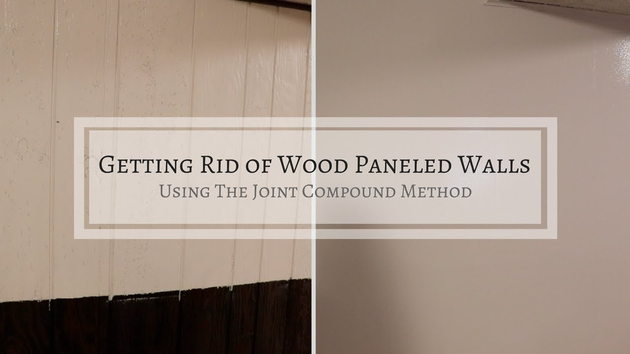 Turning Wood Paneling Into Drywall Affordable Remodeling Youtube