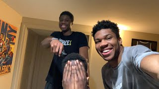 Kostas gives Giannis & Alex quarantine haircuts, while they answer fans' questions