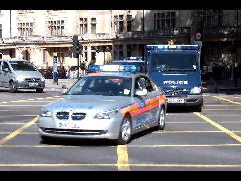 London Metropolitan Police SEG Convoy - High Security Prisoner Transport