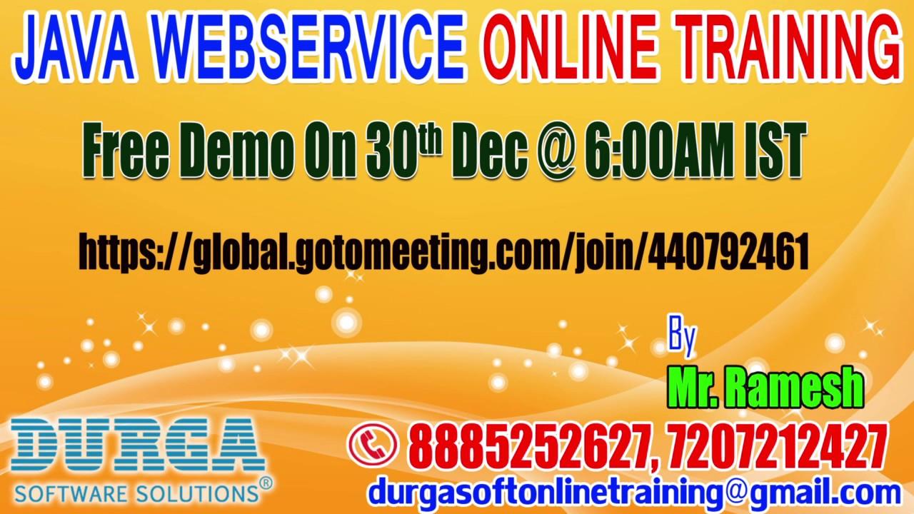 Java webservices online training in durgasoft by industry expert java webservices online training in durgasoft by industry expert demo on 30th dec 600am ist baditri Images