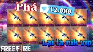 Free Fire | Thánh Hên Phá 12.000 Kim Cương Quay M4a1 Vệ Binh Và Cái Kết | Meow DGame