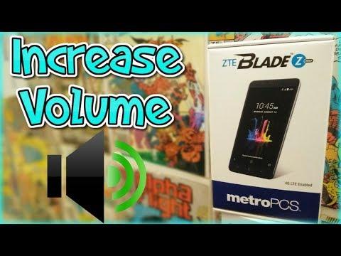 How To Increase Volume | ZTE Blade Zmax + ZTE Devices