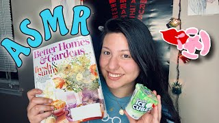 ASMR~ chewing gum while flippi…