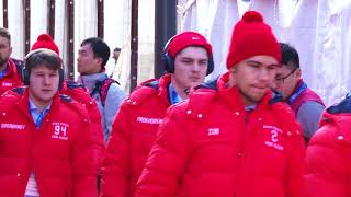 Приезд нашей сборной на игру со Словенией