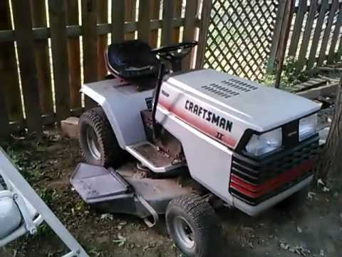 1986 Craftsman Ii Yt 16 Hp 5 Speed Yard Tractor Youtube