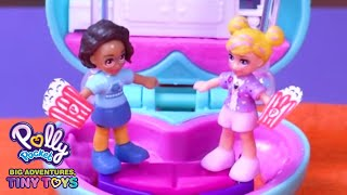 Spring Sleepover 💜🌈Polly Pocket Toy Play | Cartoons for Children