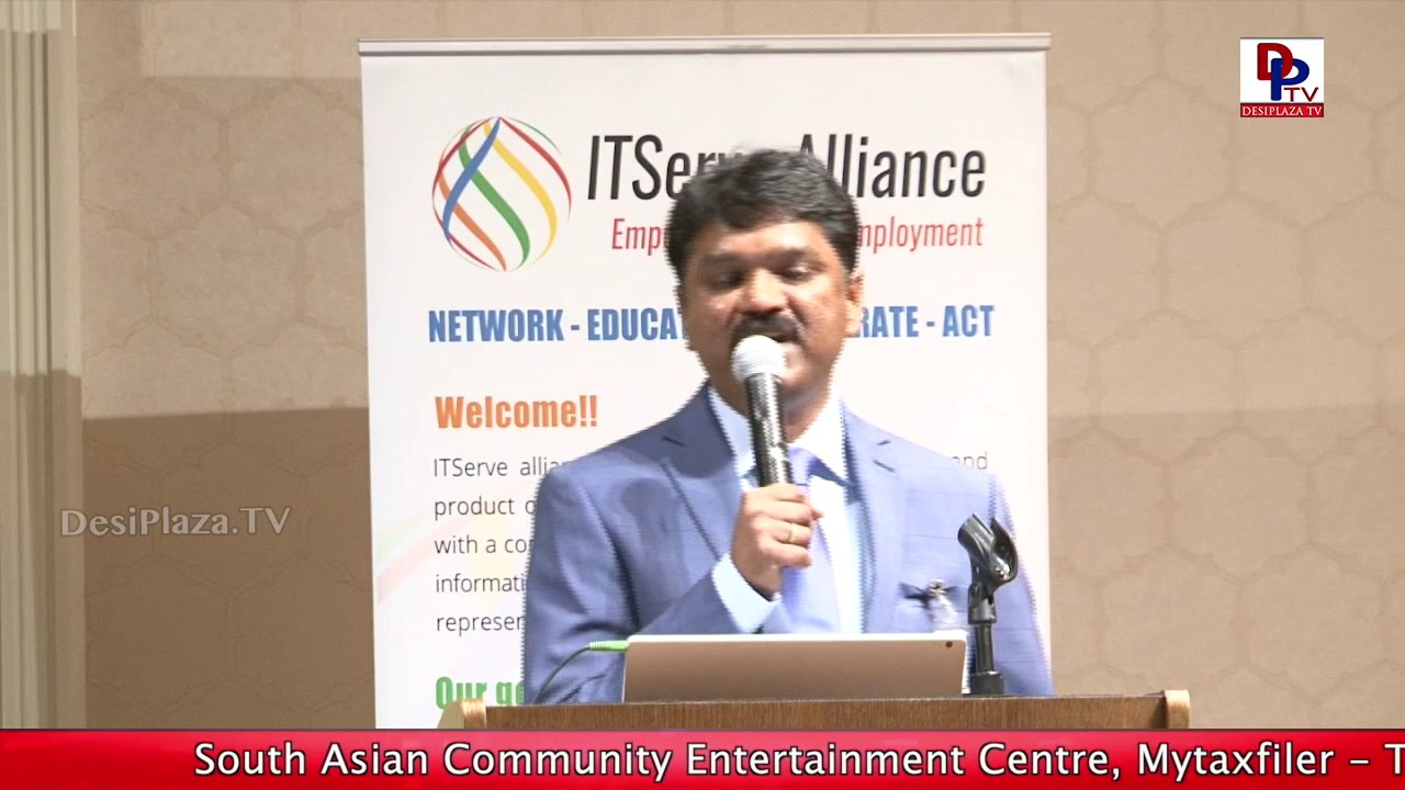 ITserve president Nannapaneni at Nara Chandra Babu Naidu Visit to Dallas
