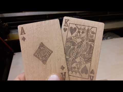 Колода карт из дерева. Гравировка на шпоне. Бук 1.5мм. Деревяшкин.