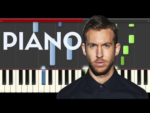 Calvin Harris Cash Out Piano Midi tutorial Sheet app Cover Karaoke