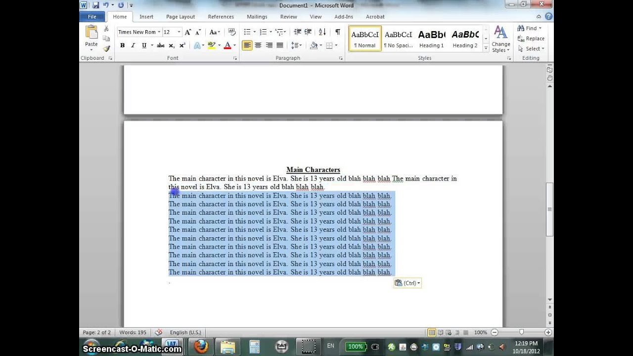 How To Make A Book Microsoft Word : How to create a book report using microsoft word youtube