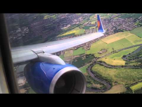Jet2.com 757-200 Bumpy landing at Leeds Bradford International Airport runway 32