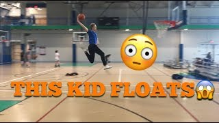 This kid FLOATS....
