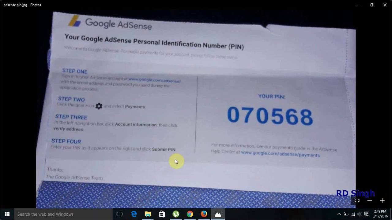 How To Verify Adsense Account Pin For Address Verification  Google