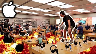 THE FLOOR IS LAVA CHALLENGE IN APPLE STORE!