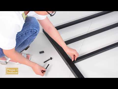 GreenForest heavy duty bed frame queen no squeaky metal bed