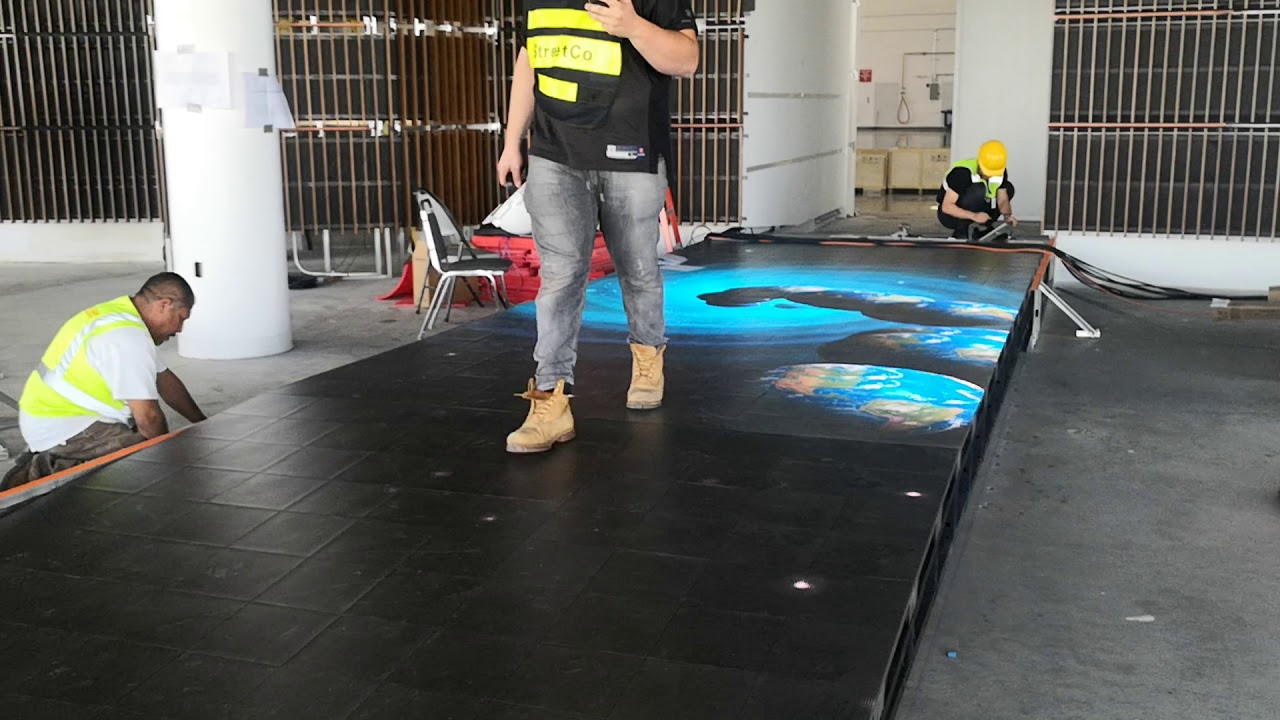 Interactive floor screen