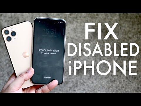 FIX IPhone Is Disabled Connect To Itunes! (2020)
