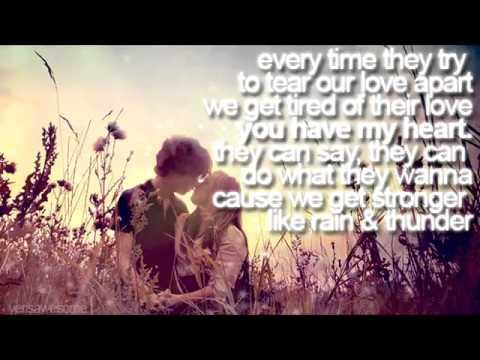 Rain & Thunder - Leona Lewis ? [lyrics on screen]